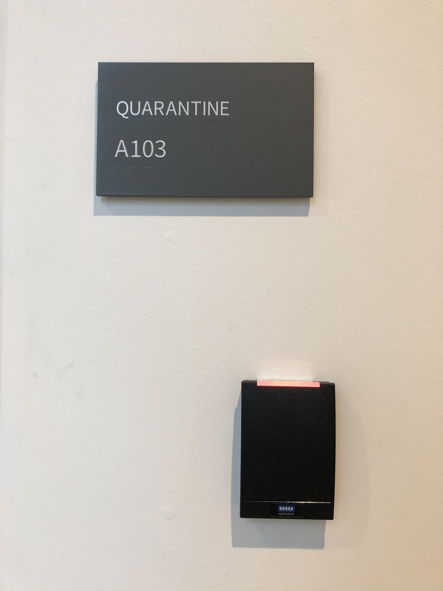 Quarantine room entrance