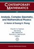 Analysis, complex geometry, and mathematical physics