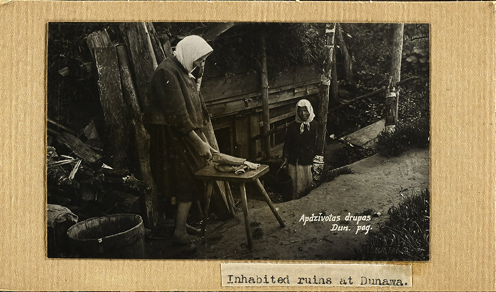 Images from a photo album depicting living conditions for post-WWI Latvians. Credit: American Relief Administration-European operational records, Hoover Institution Archives