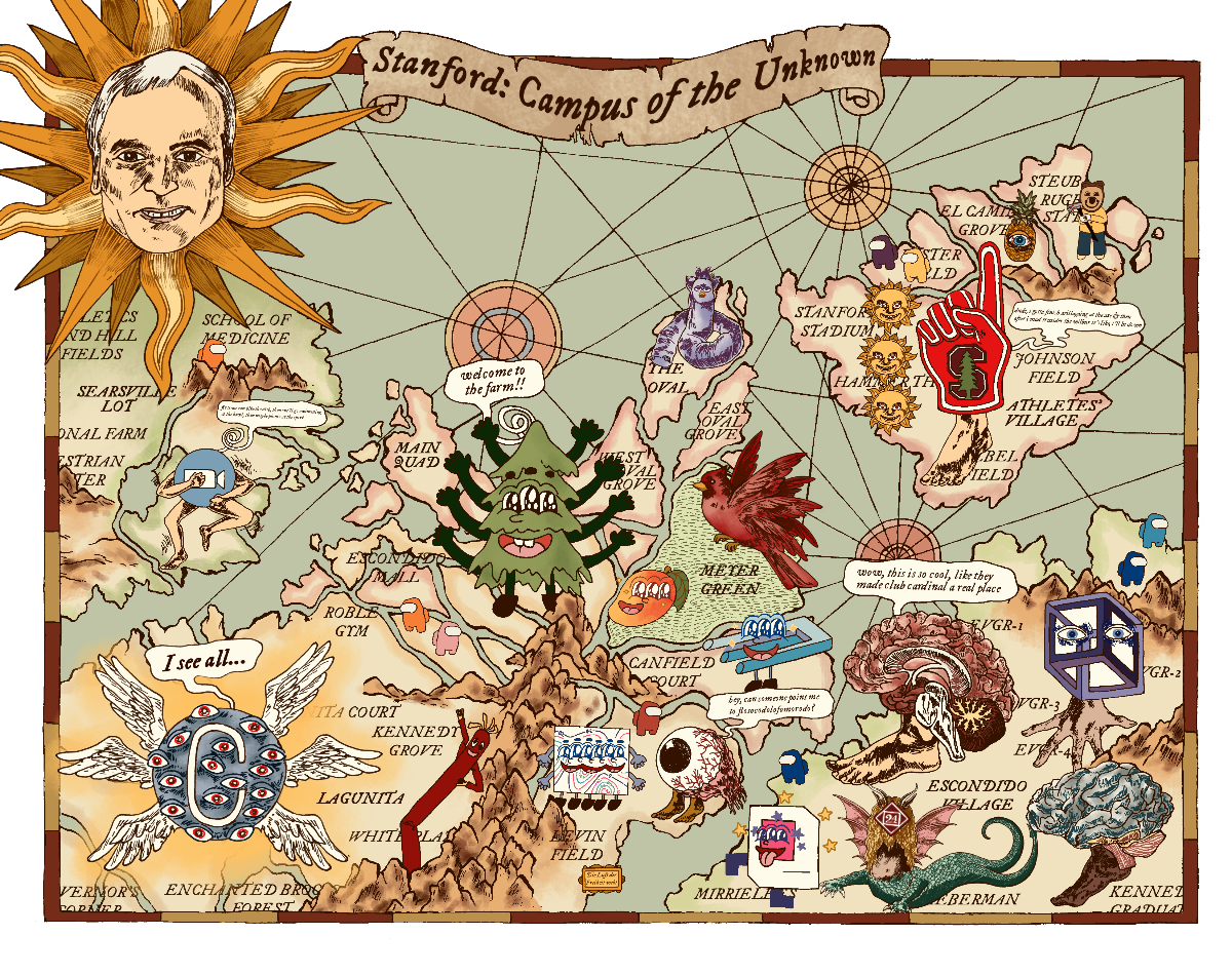 Lydia Wei's fantastical campus map