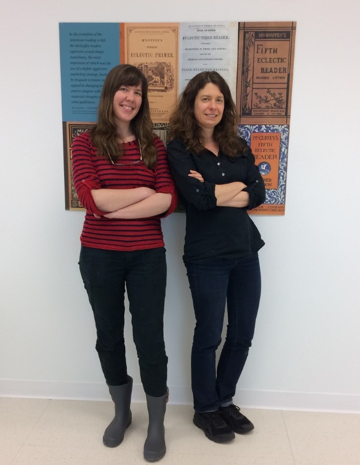 Elizabeth Boyne and Sarah Newton, Conservation Technicians in Conservation Services