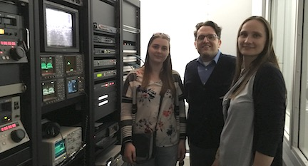 Latvian collaborators visit the Stanford Media Preservation Lab