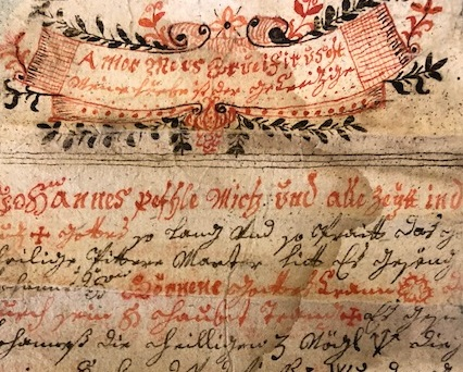 "Image of a ""grimoire"" or magical text from Southern Germany/Austria, 1790"