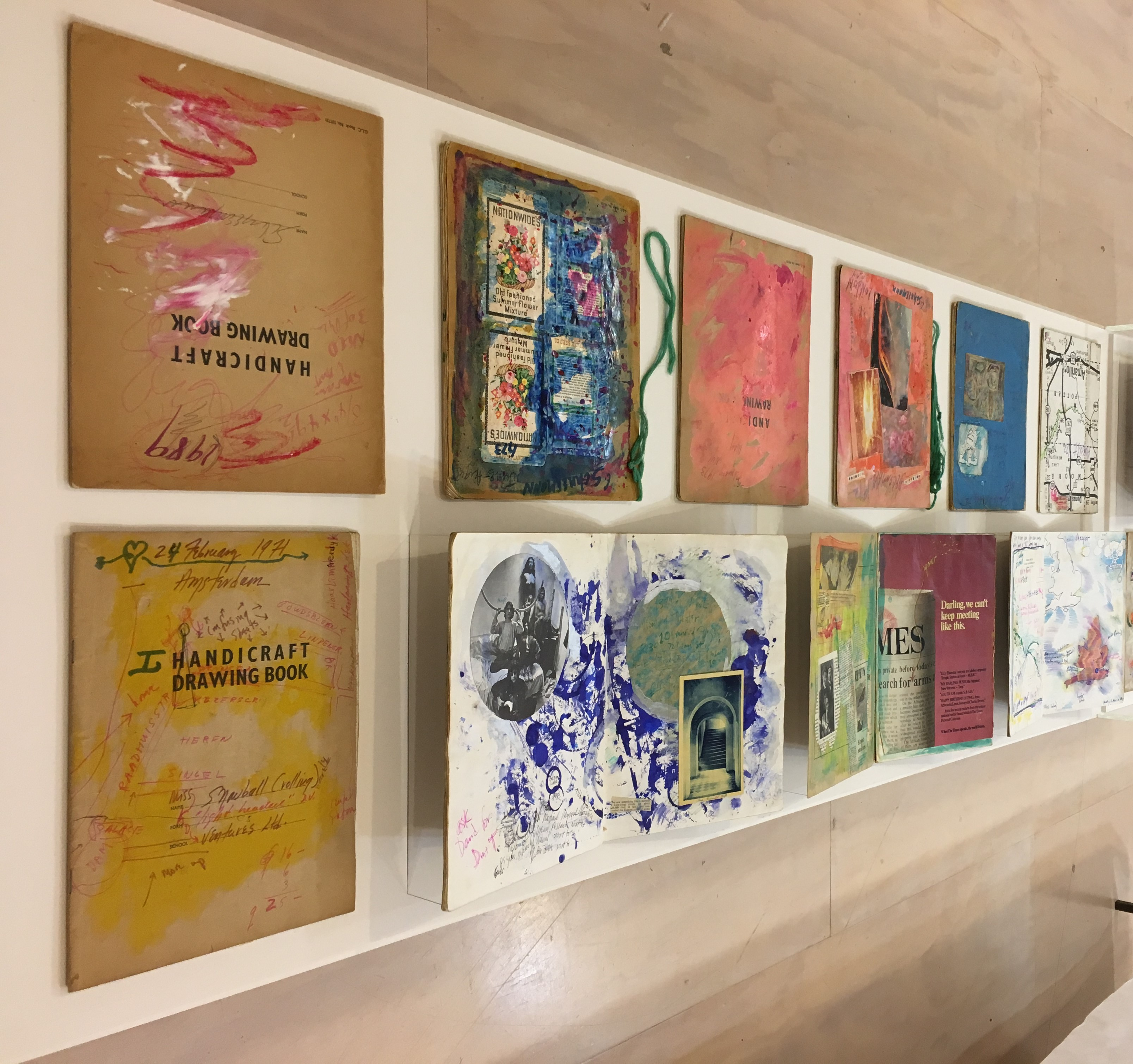 Installation of objects from the Carolee Schneemann archive at the MoMA PS1, 2018