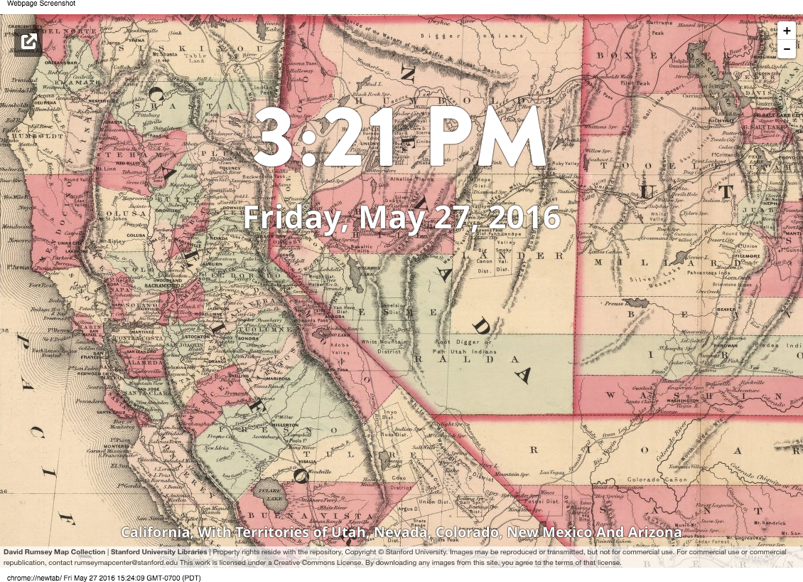 The David Rumsey Map Collection Chrome Browser plug-in