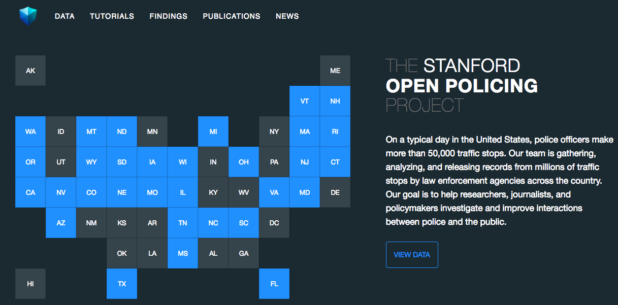Stanford Open Policing Project Website
