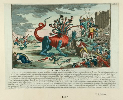 Satirical print of French aristocrats