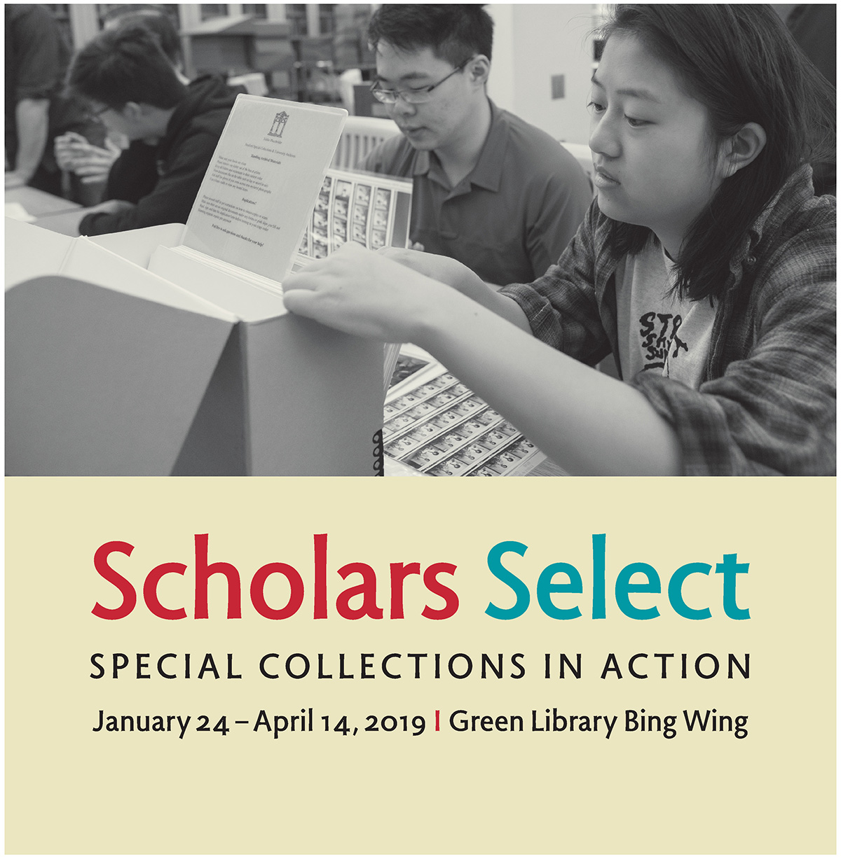 title poster for Scholars Select exhibit