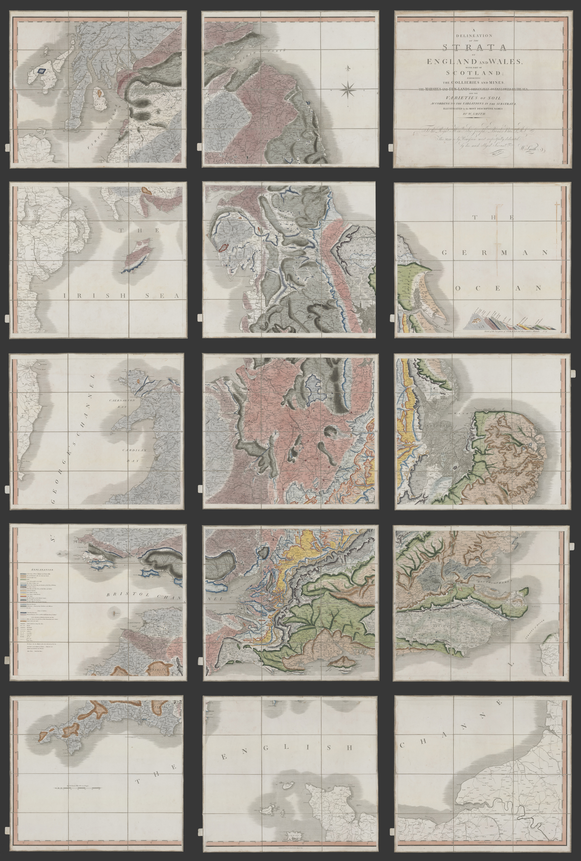 Big Map Of England.How Big Is A Big Map Digitizing William Smith S Stratified Map Of