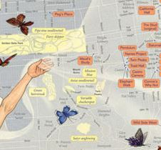 A Cropped Part of Rebecca Solnit's Monarchs and Queens Map 2010