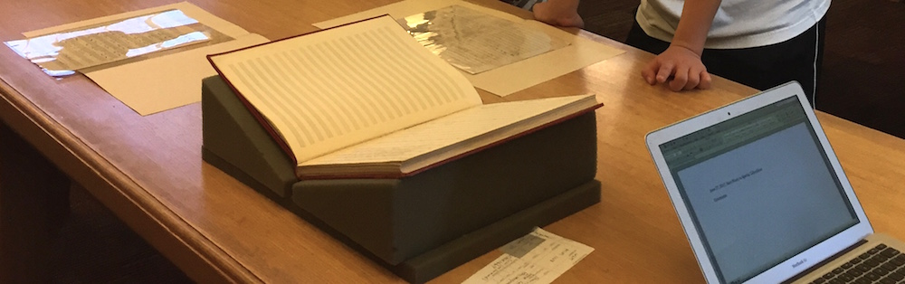 Rare music materials on display