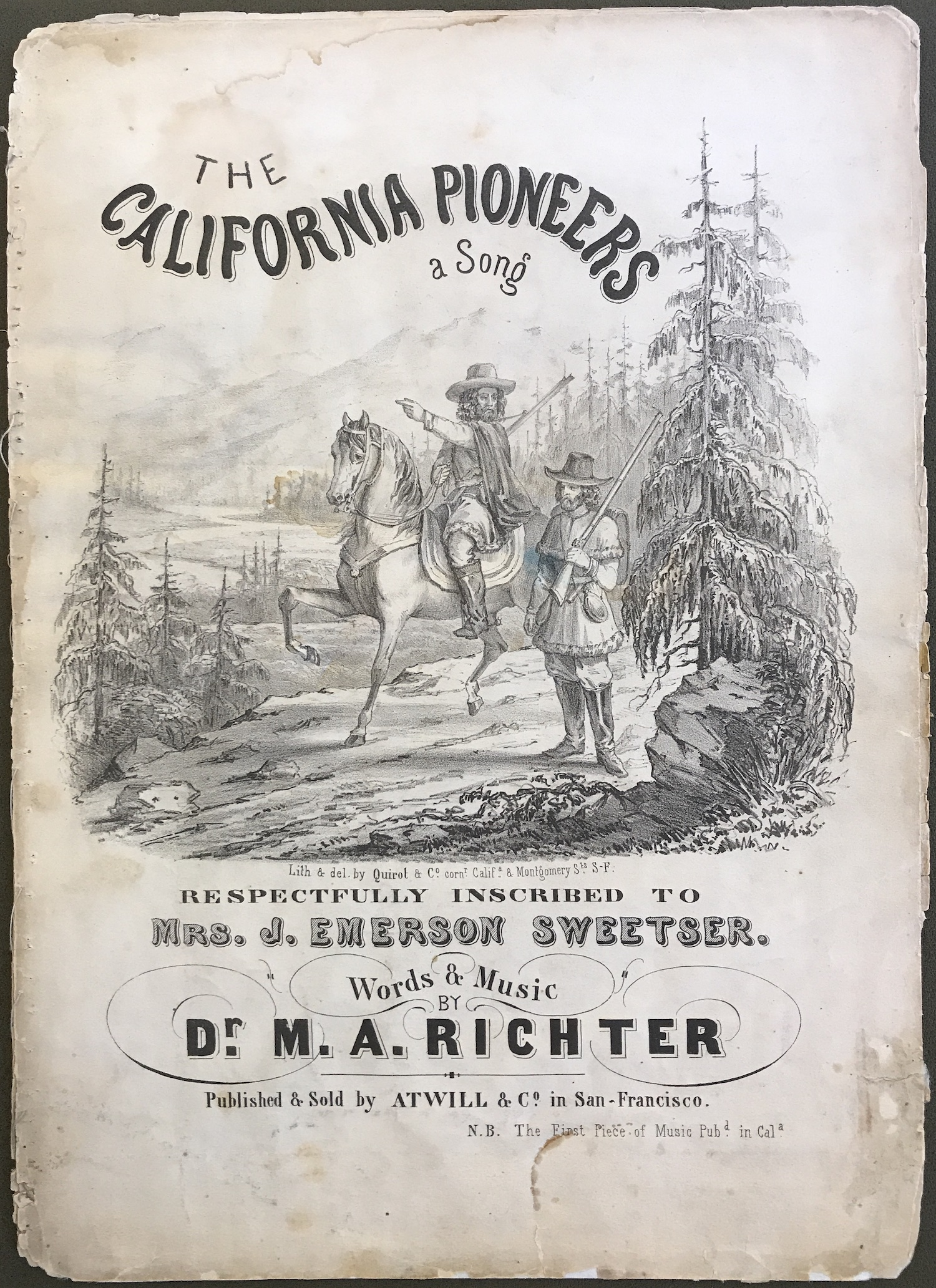 The California Pioneers : a Song