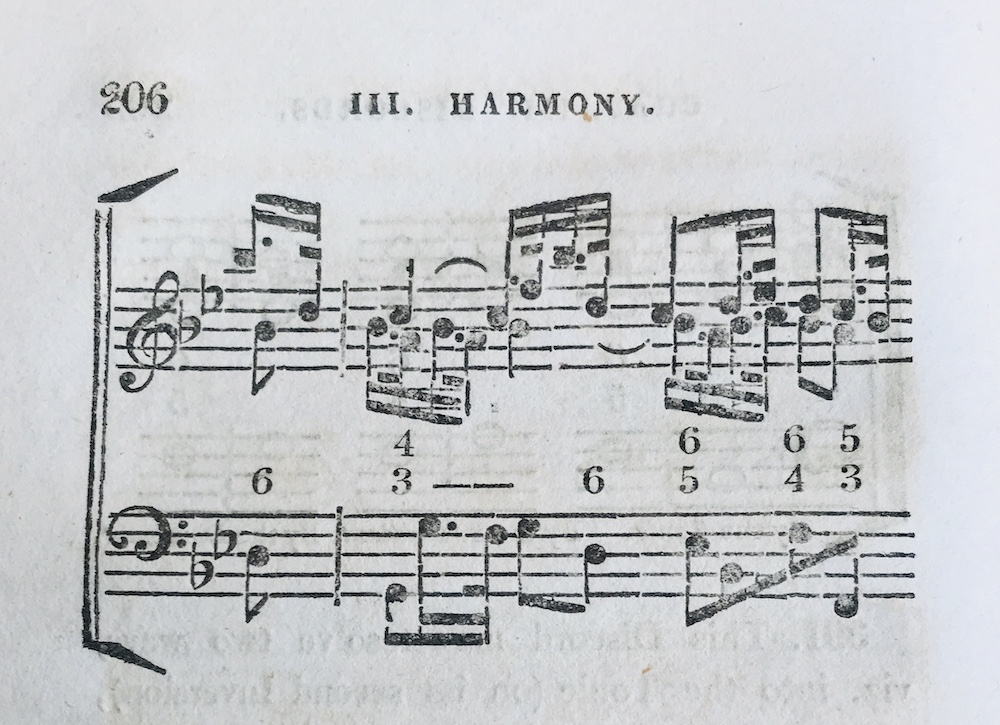 Example of typeset music notation