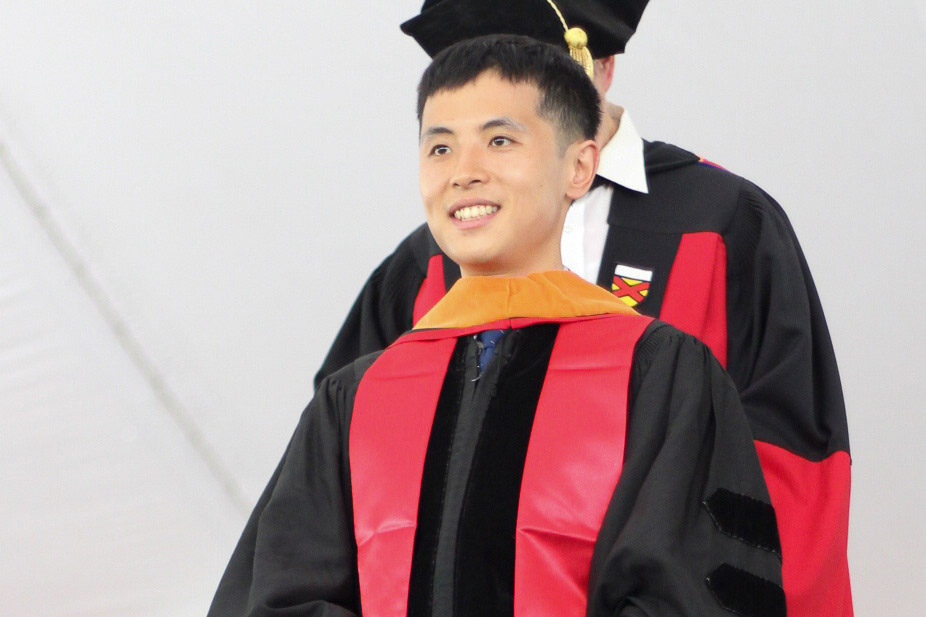 Yusi Chen became the 5000th Stanford student to submit his dissertation electronically after earning his doctorate in electrical engineering in January. (Image credit: Courtesy Yusi Chen)