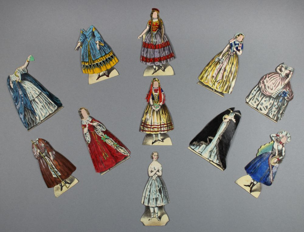 The Jenny Lind paper doll dresses