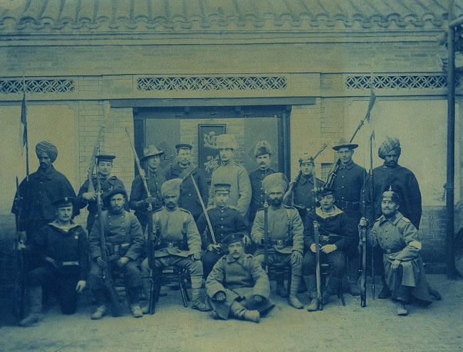 Allied soldiers posing during Boxer Rebellion
