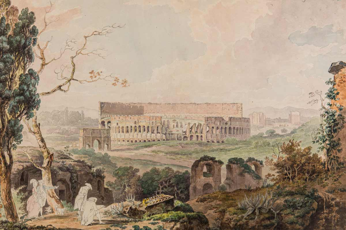 An18th-centurypaintingoftheColosseumbyFrancisTowne is part of the collection. (Image credit: CourtesyIstitutoNazionalediArcheologiaeStoriadell'Arte)