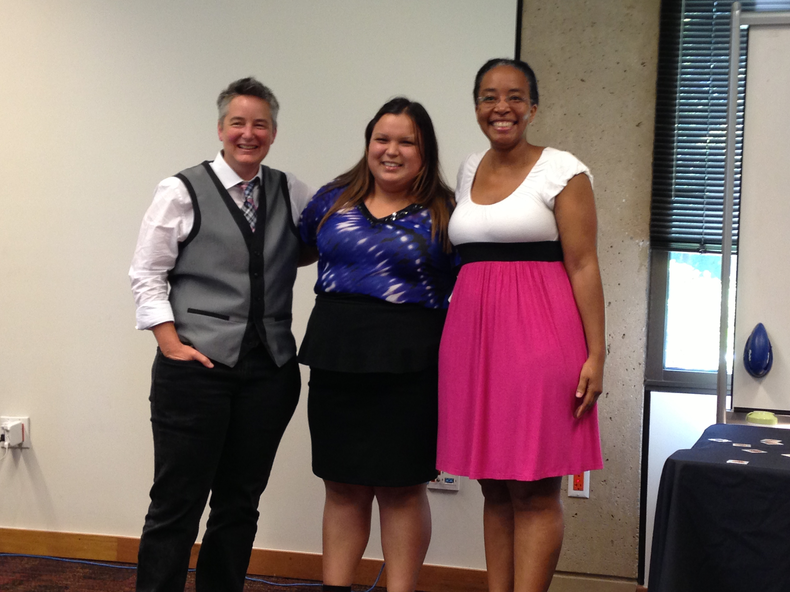 Chris Bourg, Veronica Rubalcava, and Felicia Smith
