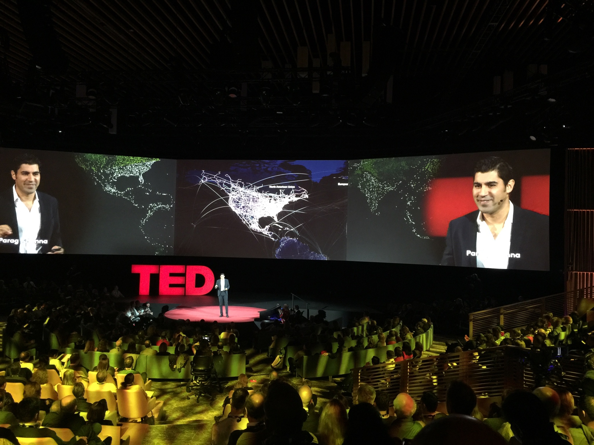 Parag Khanna speaking at TED conference