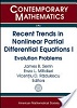 Recent trends in nonlinear partial differential equations