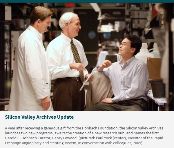 Silicon Valley Archives Update