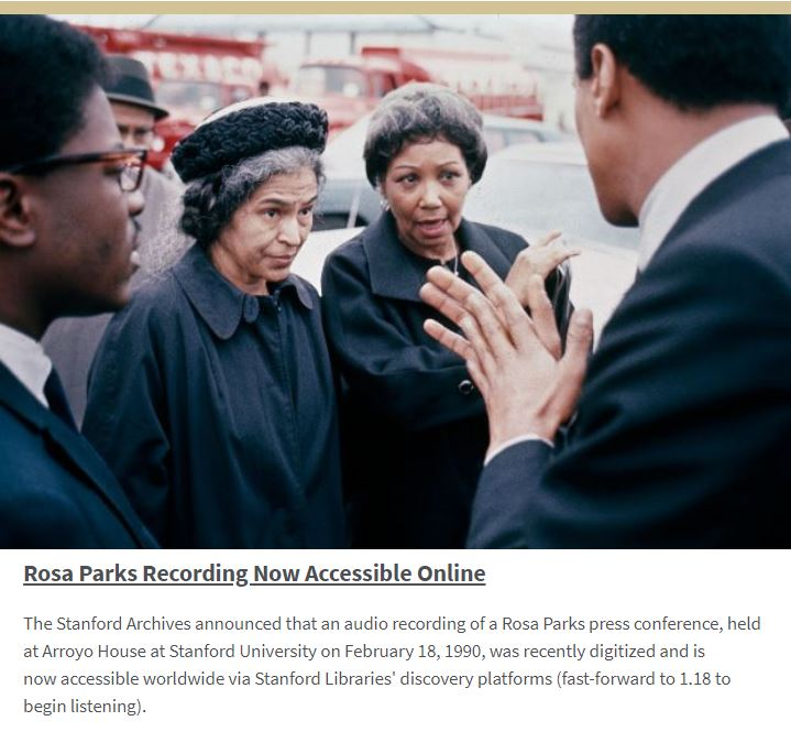 Rosa Parks Recording Now Accessible Online