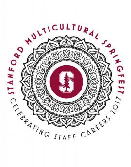 Stanford Multicultural Springfest 2017 logo designed by David Rose (Stanford Staff Member)