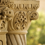 Architectural detail of the Stanford Quadrangle.