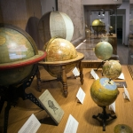 Globes on display