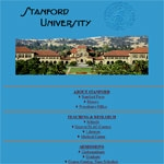 Stanford University website home page, December 1996