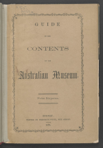 Cover of viewer guide to Australian Museum