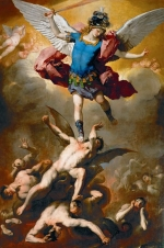 Archangel Michael Hurls the Rebellious Angels into the Abyss, by Luca Giordano (ca. 1666)