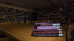 ARS reading room with books