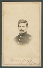 Carte de Visite photograph of Ambrose Bierce, Morse's Gallery of the Cumberland, Nashville, Tennessee (undated; 1862-1863?)