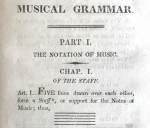 Title page (detail) of Callcott's book