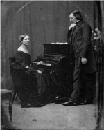 Photo of Robert and Clara Schumann