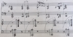 Henry Cowell, The Harp of Life (detail showing tone clusters)