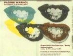 Exhibition poster: Paging Warhol: An Exhibition of the Artist in Print