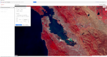 A False Color 432 Landsat composite image, made in Google Earth Engine