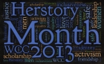 Herstory month flyer, 2013
