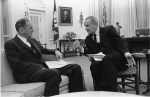 John Gardner and Lyndon Johnson in the Oval Office