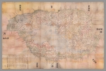 Ōmi Kuni-ezu 近江國絵圖 Japanese Tax Map, 1837