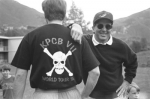 "Photograph showing a man wearing a ""KPCB VII World Tour '94"" shirt"