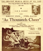 Advertisement for 'As Thousands Cheer', at the Curran Theatre, 1935