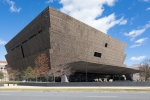 The exterior of the National Museum of African American History and Culture in Washington, D.C.