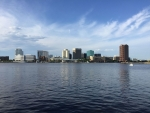 The Norfolk, Virginia skyline