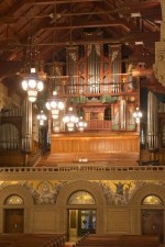 Organ loft in Memorial Church, Stanford University