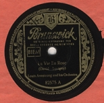 1951 Louis Armstrong Record Label, photo by Klaus Hiltscher
