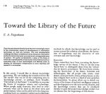 Toward the Library of the Future, Journal article title page