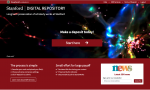 Home page for the SDR online deposit application